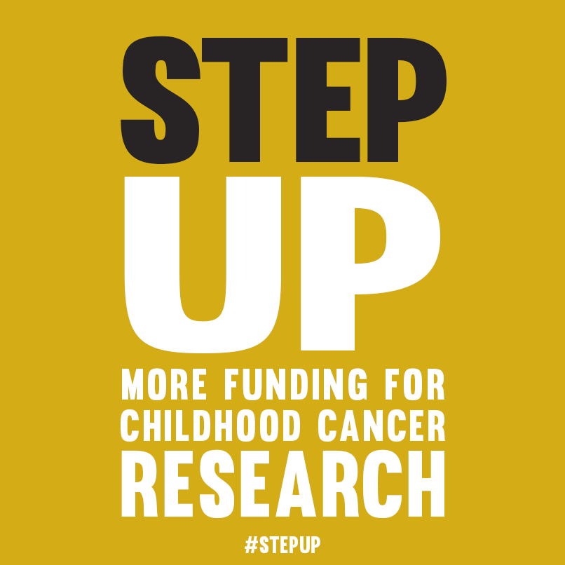 Step Up More Funding for Childhood Cancer Logo